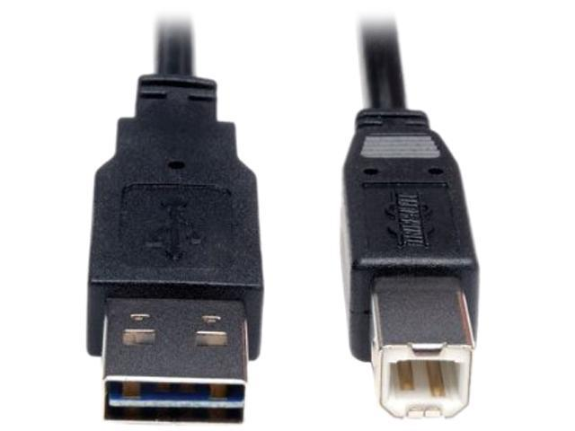 Tripp Lite Universal Reversible USB 2.0 A-Male to B-Male Device Cable - 3ft