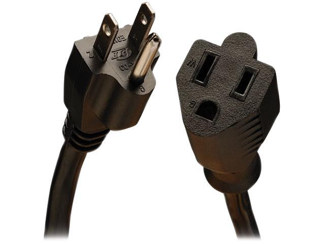 Tripp Lite Model P024-003 3 ft. Black 14AWG x 3C, SJT, 15A, 120V NEMA 5-15R to NEMA 5-15P Power Extension Cord F-M