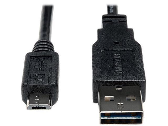 Tripp Lite Universal Reversible USB 2.0 Hi-Speed Cable, 28/24AWG