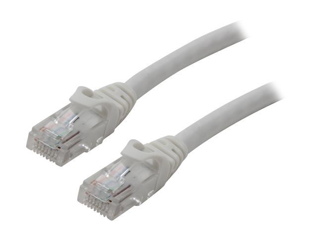 BYTECC C6EB-25W 25 ft. Cat 6 White Enhanced 550MHz Patch Cables