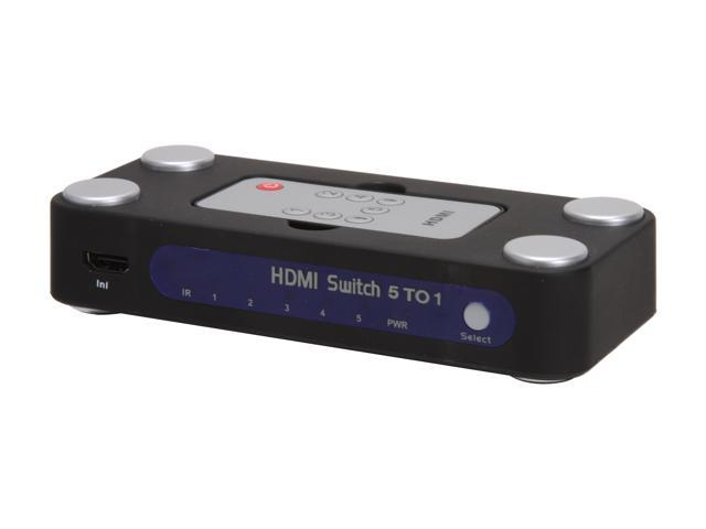 BYTECC WE088 5 to 1 HDMI SWITCH, With Remote Control