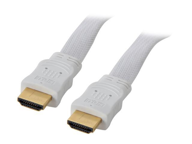 BYTECC HM-F3MW 10 ft. White HDMI male to male HDMI High Speed Male to Male White Cable - Retail pack M-M