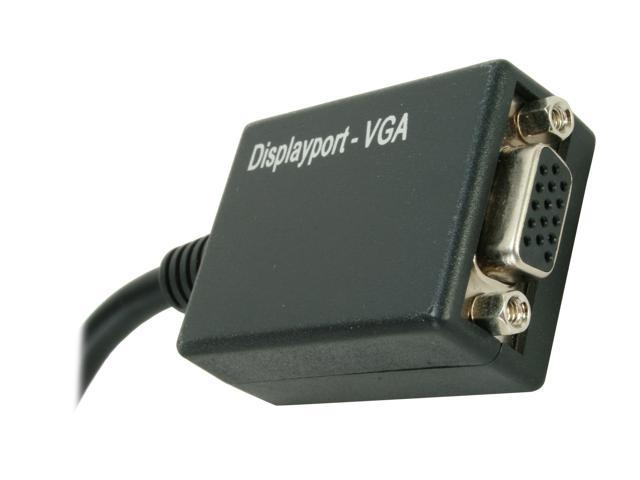 BYTECC DP-VGA005MF DisplayPort to VGA Female Cable Adaptor 0.5ft (6