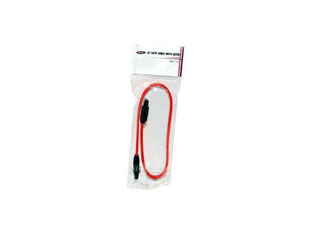 "BYTECC SATA-112C 12"" SATA II Cable w/Locking Latch"