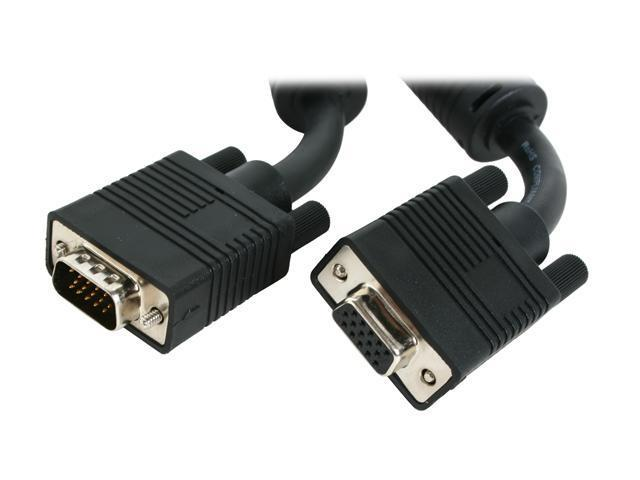 BYTECC VGA-100MF 100 ft. VGA Male to VGA Female Cable with Ferrites