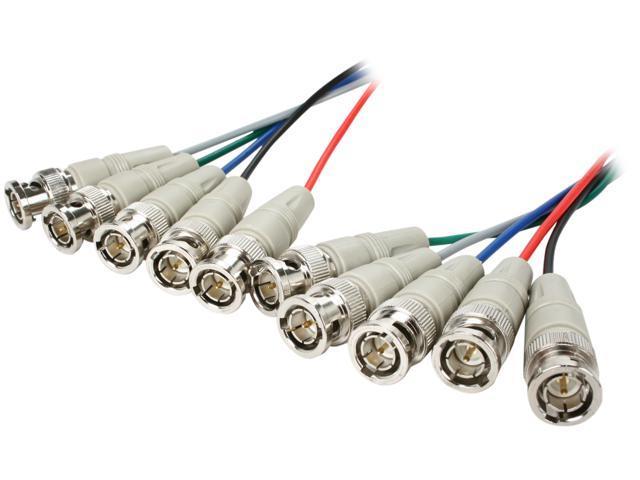 BYTECC 5BNCRGB-10 10 ft. 5BNC RGB to 5BNC RGB Video Cable, Male to Male, Beige