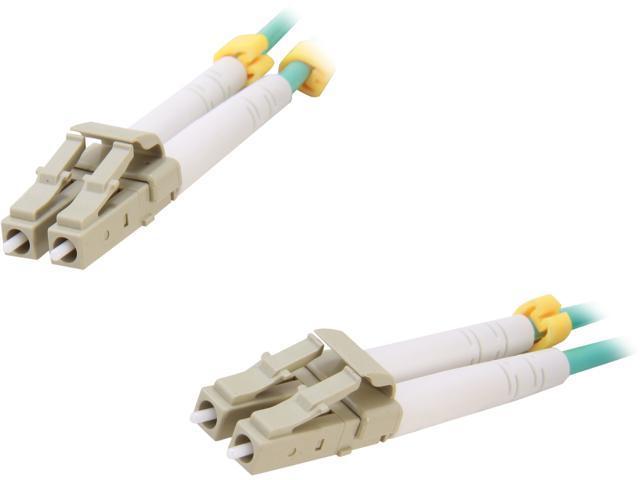 BYTECC AQ-LL4 13.12 ft. 4Meter  Aqua Fiber Optic (10Gbs) LC/LC MultiMode 50/125 Cable  M-M