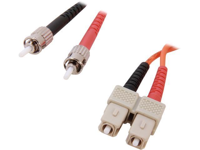 BYTECC MD-SST5 16.4 ft. ST to SC Duplex (2 Strand) Cable, Multi Mode 62.5/125 Standard Zipcore M-M
