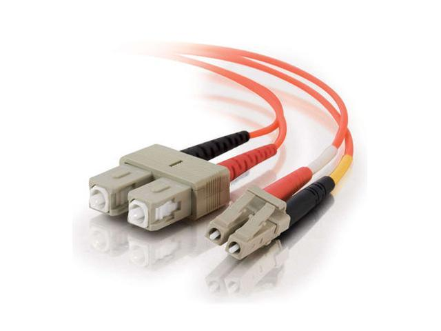 C2G 33160 15m LC/SC Duplex 62.5/125 Multimode Fiber Patch Cable - Orange