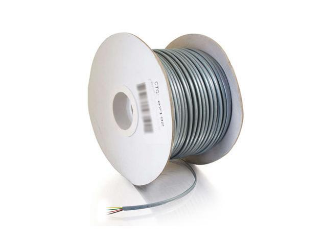 C2G 07192 500 ft. Silver 28 AWG 4-Conductor Satin Modular Cable Reel
