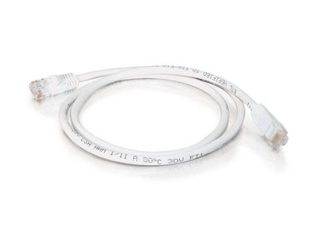 C2G 21472 100 ft. Cat 5E White 350 MHz Snagless Patch Cable