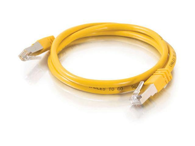 C2G 27258 10ft Shielded Cat5E Molded Patch Cable - Yellow