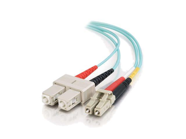 C2G 33053 3m 10 Gb LC/SC Duplex 50/125 Multimode Fiber Patch Cable - Aqua