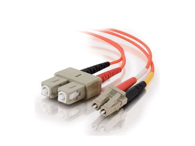 C2G 33021 26.25 ft. Orange LC/SC Duplex 50/125 Multimode Fiber Patch Cable - Orange