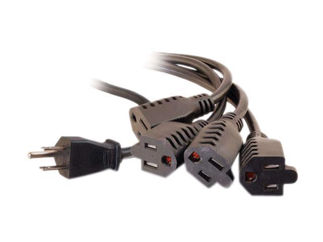 C2G Model 29808 6 ft 16 AWG 1-to-4 Power Cord Splitter M-F