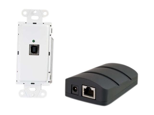 C2G 53878  Trulink USB 2.0 Superbooster Wall Plate Transmitter to Dongle Receiver Kit