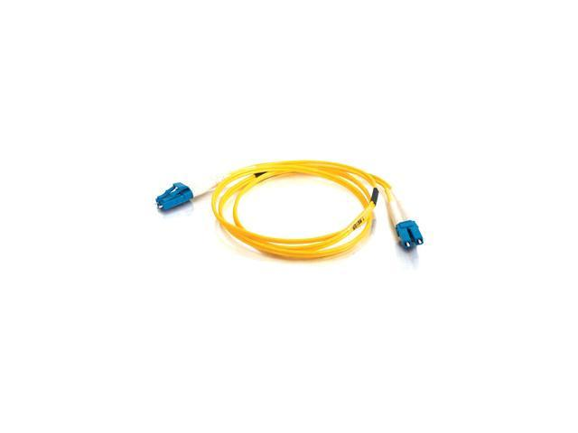 4m LC-LC 9/125 OS1 Duplex Single-Mode PVC Fiber Optic Cable - Yellow 9/125 micron cable for gigabit ethernet applications