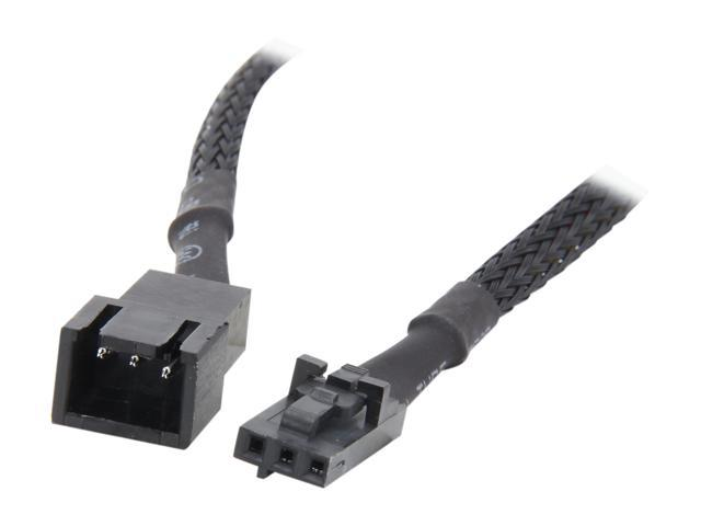 "Evercool EC-DF015 15.5cm (6.1"") cable with 3pin male to female fan connectors"