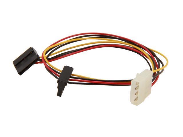 "Evercool EC-ST004 50cm (19.69"") 4pin Molex to dual SATA adapter 4pin PSU Molex to 2 x 15pin SATA power"