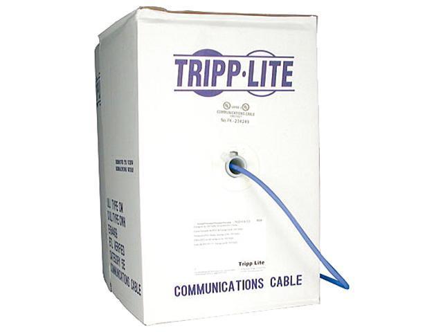 TRIPP LITE N020-01K-BL 1000 ft. Cat 5E Blue 350MHz Bulk Stranded-Core PVC Cable