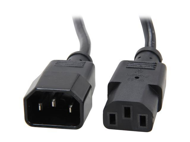 StarTech Model PXT1003 3 ft. Standard Computer Extension Power Cord -C14 to C13