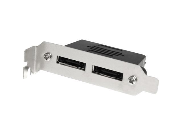 StarTech ESATAPLT2LPM 2-Port Low Profile SATA to eSATA Plate Adapter - F/M