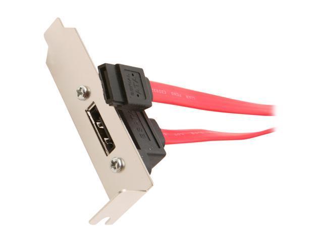 StarTech 1 ft Low Profile Latching SATA to eSATA Plate Adapter Model ESATAPLT1LPL
