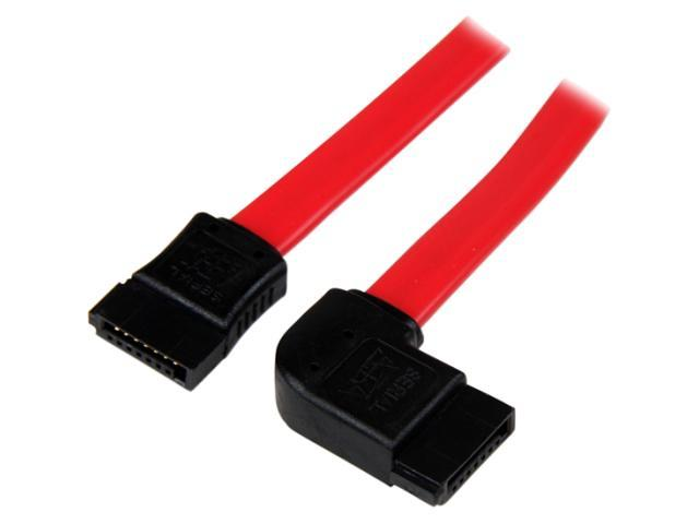 StarTech.com 12in SATA to Left Side Angle SATA Serial ATA Cable