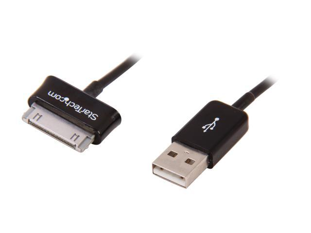 StarTech USB2SDC2M Black Dock Connector to USB Cable for Samsung Galaxy Tab