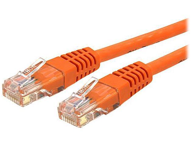 StarTech C6PATCH25OR 25 ft. Cat 6 Orange Molded UTP Gigabit Patch Cable