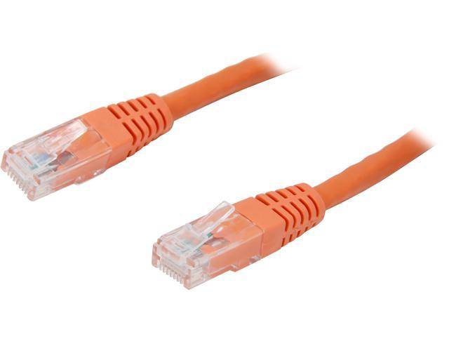 StarTech C6PATCH6OR 6 ft. Cat 6 Orange Molded UTP Gigabit Patch Cable