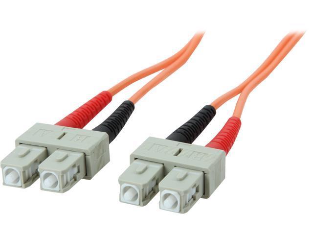 StarTech 50FIBPSCSC1 3.3 ft. OFNP Plenum Multimode 50/125 Duplex Fiber Patch Cable SC - SC M-M
