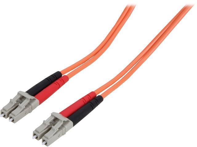 StarTech 50FIBPLCLC1 3.3 ft [1 m] OFNP Plenum Multimode 50/125 Duplex Fiber Patch Cable LC - LC M-M