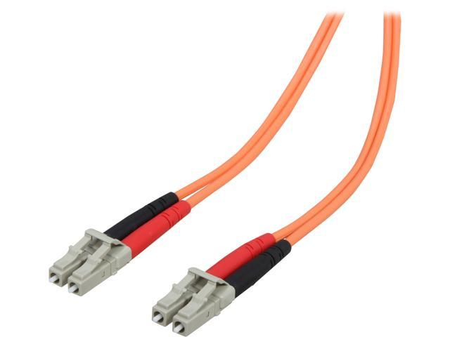 StarTech 50FIBPLCLC3 9.8 ft [3 m] OFNP Plenum Multimode 50/125 Duplex Fiber Patch Cable LC - LC M-M