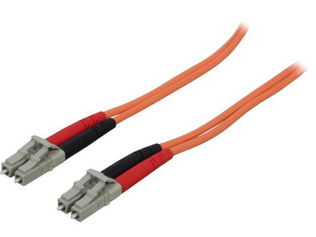 StarTech 50FIBPLCLC5 16.4 ft [5 m] OFNP Plenum Multimode 50/125 Duplex Fiber Patch Cable LC - LC M-M