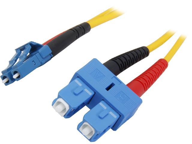 StarTech SMFIBLCSC4 13.12 ft. (4m) Single Mode Duplex Fiber Patch Cable LC-SC M-M