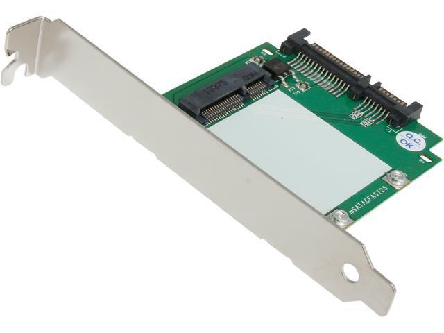 StarTech SAT32MSATPEX SATA to mSATA SSD Adapter w/ Full and Low Profile Brackets - SATA to Mini SATA Converter Card