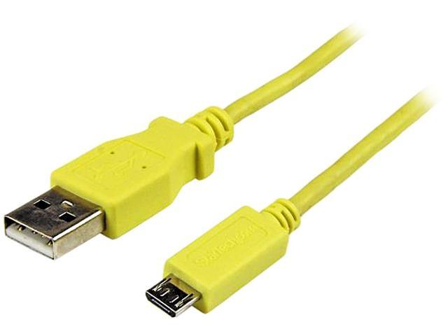 StarTech.com 1m Yellow Mobile Charge Sync USB to Slim Micro USB Cable for Smartphones and Tablets - A to Micro B