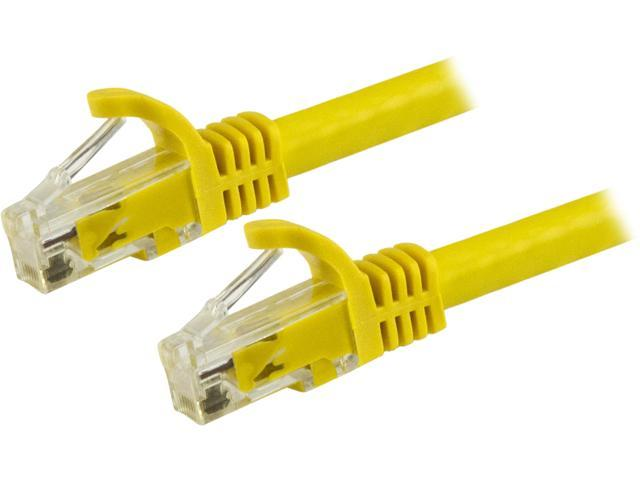 StarTech N6PATCH8YL StarTech.com Cat6 Patch Cable - 8 ft. - Yellow Ethernet Cable - Snagless RJ45 Cable - Ethernet Cord - Cat 6 Cable - 8 ft.