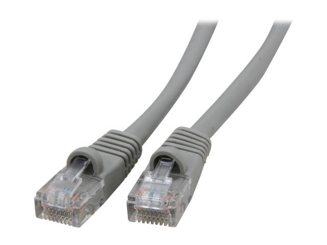 Coboc CY-CAT5E-100-GY 100ft.24AWG Snagless Cat 5e Gray Color 350MHz UTP Ethernet Stranded Copper Patch cord /Molded Network lan Cable