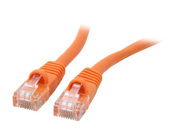 Coboc CY-CAT5E-01-OR 1ft.24AWG Snagless Cat 5e Orange Color 350MHz UTP Ethernet Stranded Copper Patch cord /Molded Network lan Cable