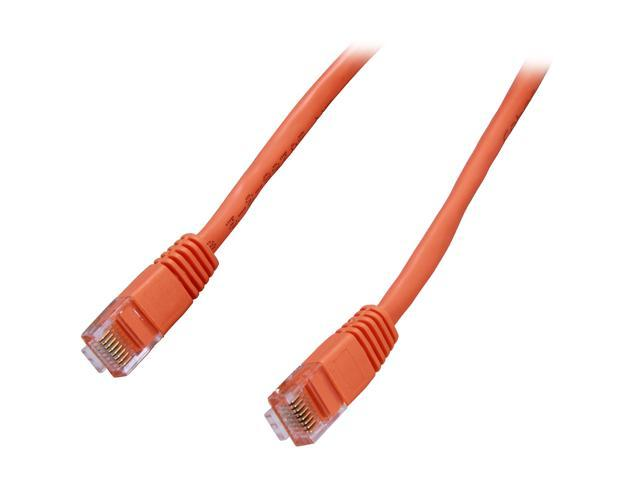 Coboc CY-CAT5E-14-OR 14ft.24AWG Snagless Cat 5e Orange Color 350MHz UTP Ethernet Stranded Copper Patch cord /Molded Network lan Cable
