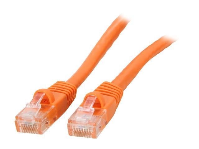 Coboc CY-CAT6-20-OR 20ft. 24AWG Snagless Cat 6 Orange Color 550MHz UTP Ethernet Stranded Copper Patch cord /Molded Network lan Cable