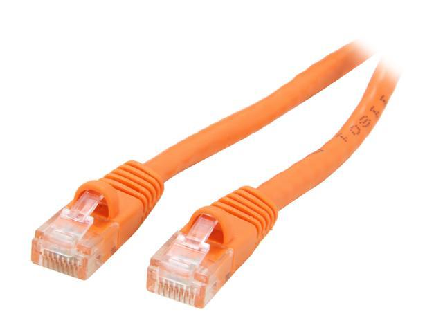 Coboc CY-CAT6-100-OR 100ft. 24AWG Snagless Cat 6 Orange Color 550MHz UTP Ethernet Stranded Copper Patch cord /Molded Network lan Cable