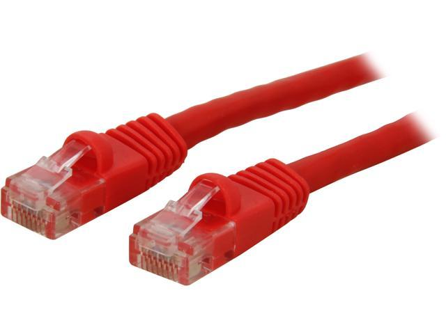 Coboc CY-CAT6-05-RD 5ft. 24AWG Snagless Cat 6 Red Color 550MHz UTP Ethernet Stranded Copper Patch cord /Molded Network lan Cable
