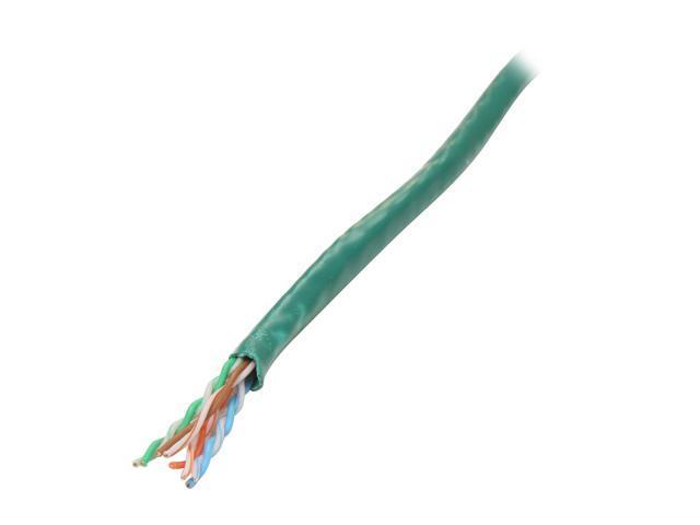 Coboc CY-CAT6-1K(CM)-ST-GR 1000ft. 24AWG Cat 6 Green Color 550MHz UTP Stranded Copper Bulk Ethernet Network lan Cable