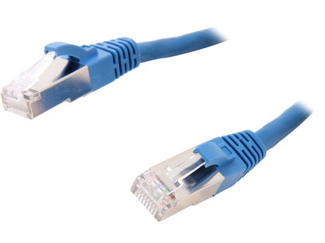 Coboc CY-CAT6A-STP-14-BL 14ft.26AWG Snagless Cat 6A Blue Color 550MHz SSTP(PIMF) Shielded Ethernet Stranded Copper Patch cord /Molded Network lan Cable