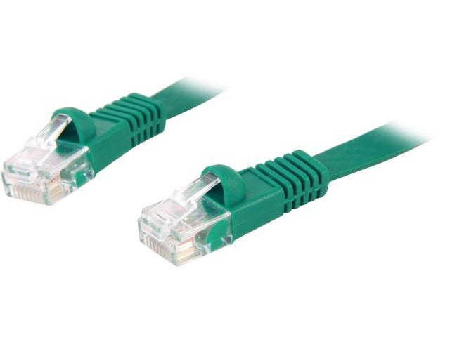 Coboc CY-CAT5E-02-Green 2ft. 30AWG Cat 5E Green Color 350MHz UTP Flat Ethernet Stranded Copper Patch cord /Molded Network lan Cable