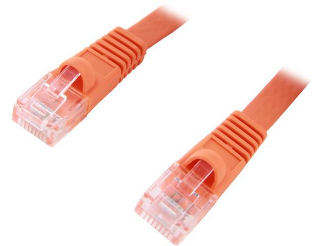 Coboc CY-CAT5E-05-Orange 5ft. 30AWG Cat 5E Orange Color 350MHz UTP Flat Ethernet Stranded Copper Patch cord /Molded Network lan Cable