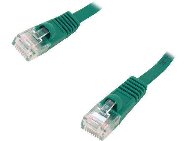 Coboc CY-CAT6-05-Green 5ft. 32AWG Cat 6 Green Color 550MHz UTP Flat Ethernet Stranded Copper Patch cord /Molded Network lan Cable